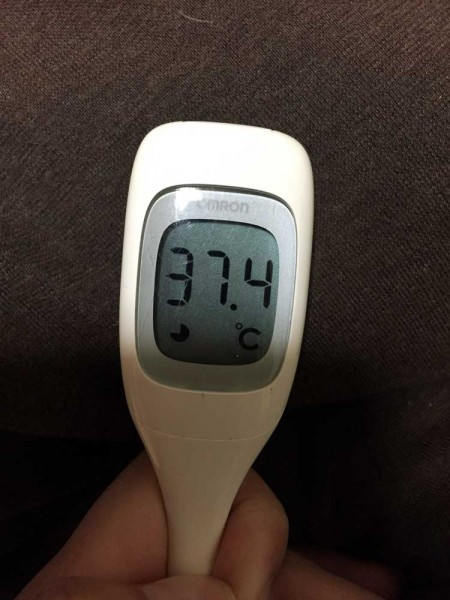 この日37.4度の熱