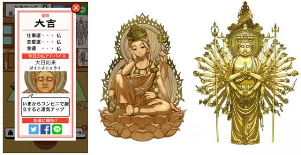 登場する仏像は全て実在するもの