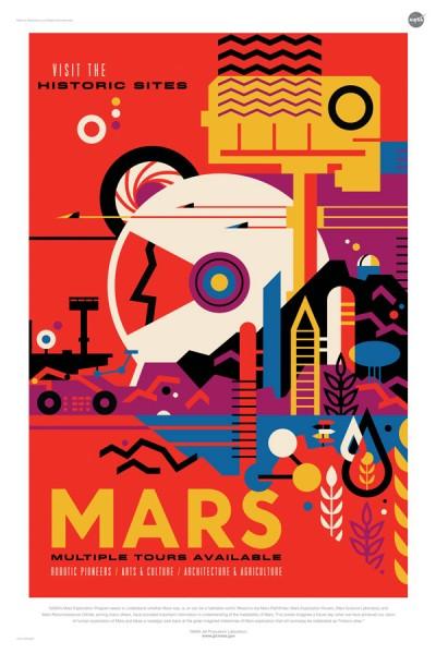 火星観光ポスター(画像:NASA/JPL)