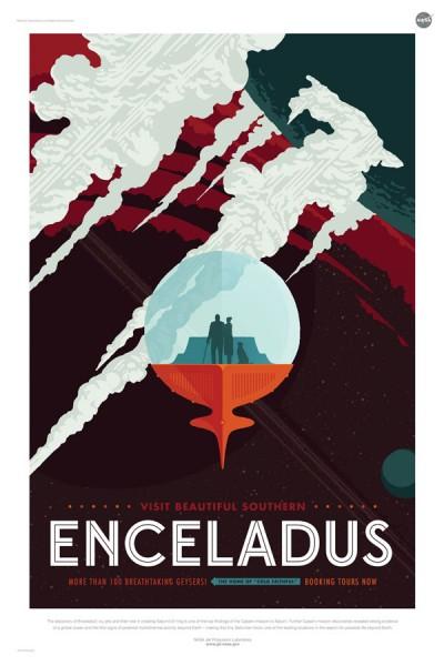 エンケラドゥス観光ツアー(画像:NASA/JPL)