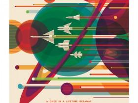 太陽系・外惑星ツアーポスター(画像:NASA/JPL)