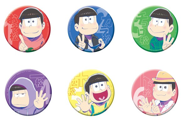 おそ松さん ビッグ缶バッジ(全6種)