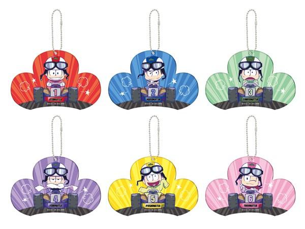 おそ松さん 松型プレートキーホルダー(全6種)