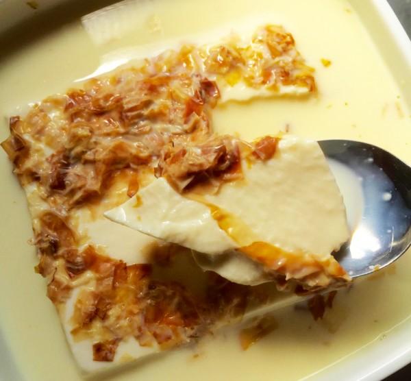 豆腐に豆乳かけてチン!