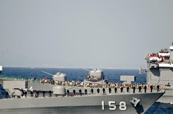 うみぎり(DD-158)の登舷礼
