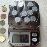 1円玉が1gだと話題になっていたので、いろいろ計ってみたよ!