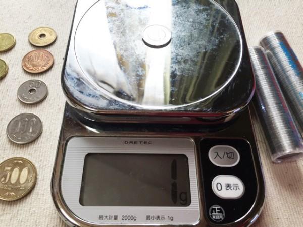 1円玉を計ってみたらジャスト1g