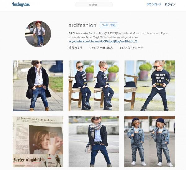 Instagramページ『ardifashion』より。
