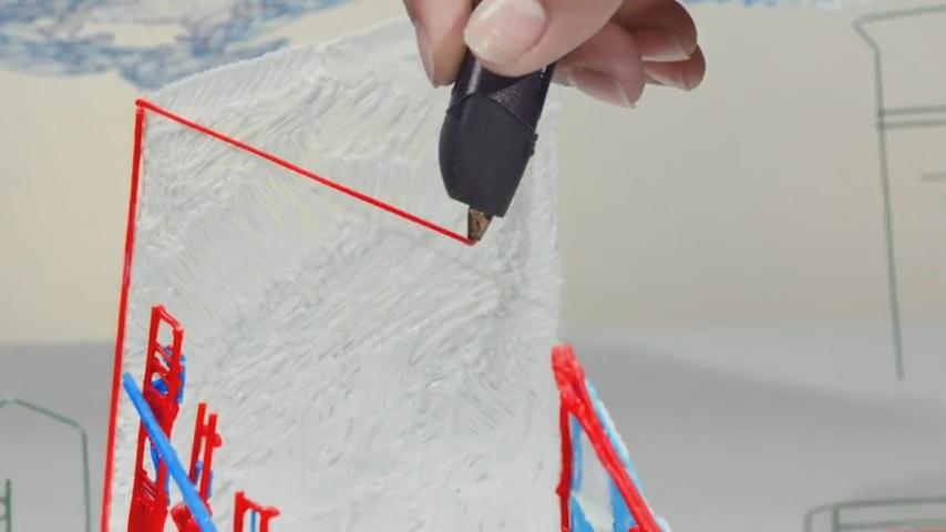 3Dペンでのイラスト制作風景が凄い まるで空中に線をかいてるみたい