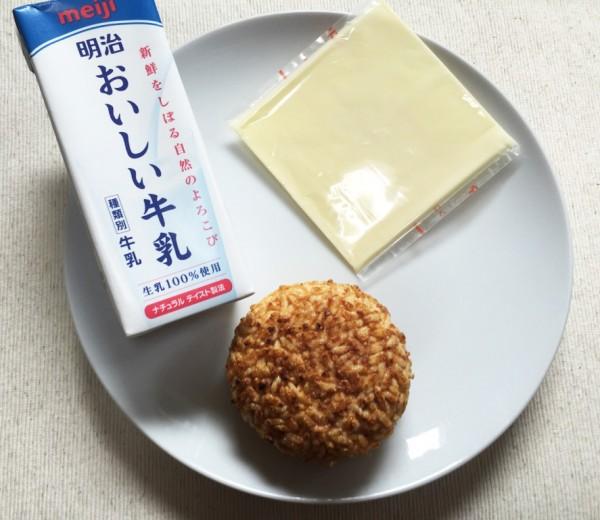 (「牛乳リゾット」の材料)