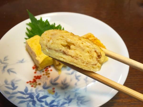 (ふわとろ食感の上品な卵焼き)