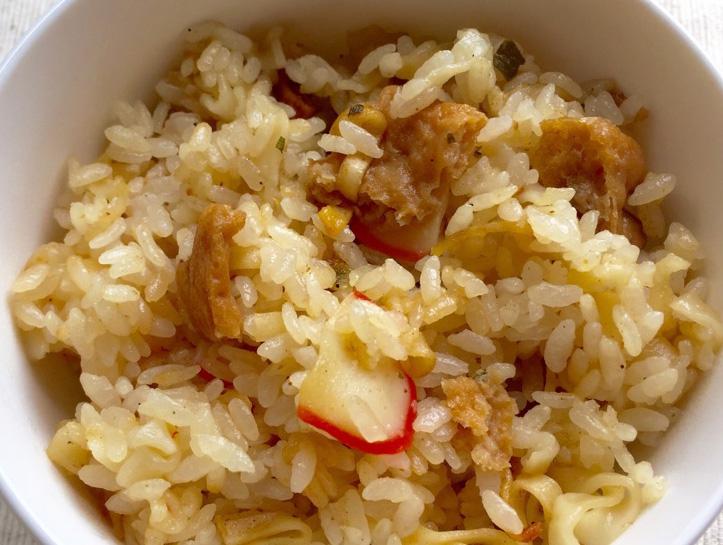 ジョブチューンで紹介の「赤いきつねの炊き込みご飯」つくってみた