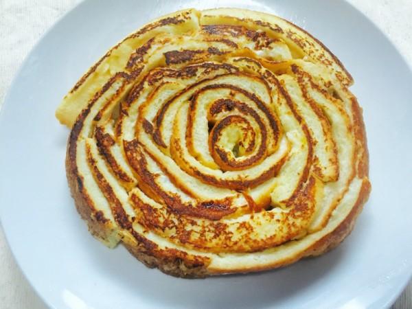 完成した「ぐるぐるフレンチトースト」