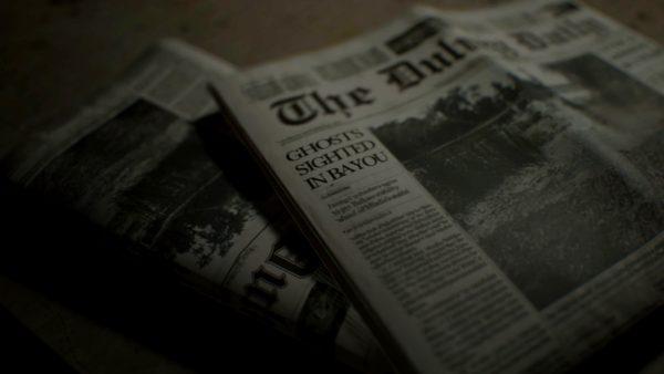 地方紙の一面。全国紙では伝えられない程度の、しかし、不吉なニュースが一面で報じられている。