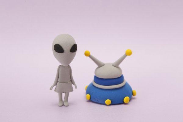 UFOと宇宙人のクレイアート