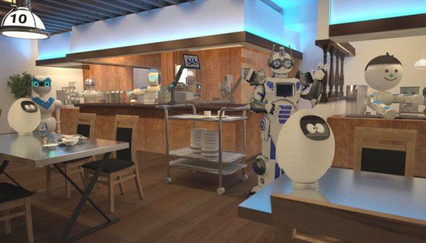 変なレストランロボット