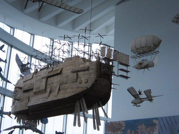 動く飛行船