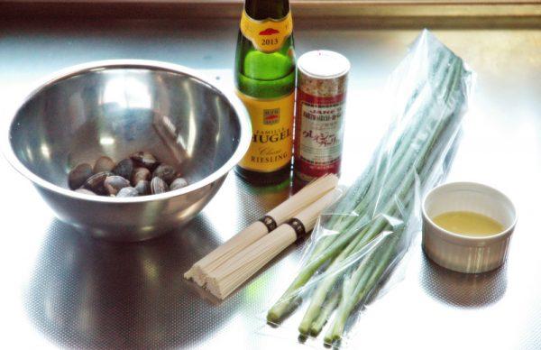 ボンゴレリッチソーメンの材料
