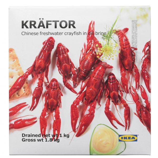 「KRÄFTOR/クレフトル 冷凍ザリガニ(1,000g)」2490円(税込)