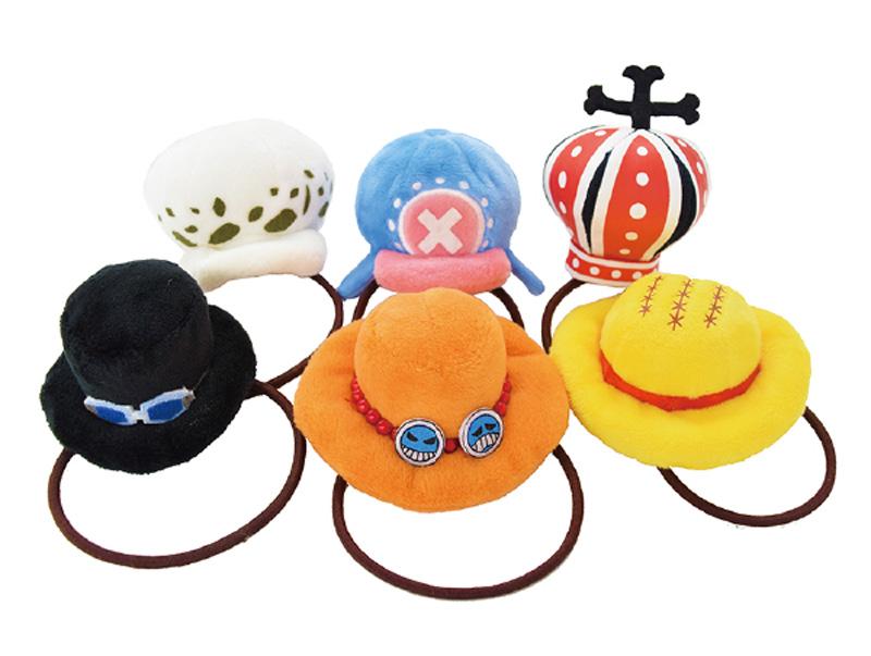 ワンピース、ルフィやエースの帽子がヘアゴムに!全6種がラインアップ