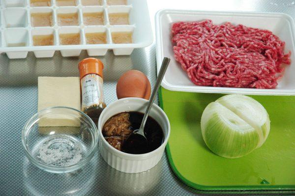 高野豆腐×新玉ねぎで 家事えもん流ジューシーふわふわハンバーグ!の材料