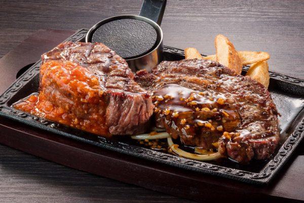 厚切りミスジステーキ(225g)&熟成赤身ログステーキ(225g)