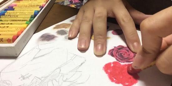 (1:ベースの色を適当に塗っていく)