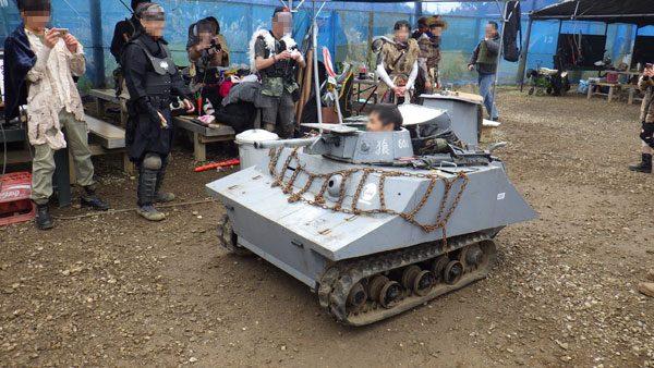 乗れる模型戦車