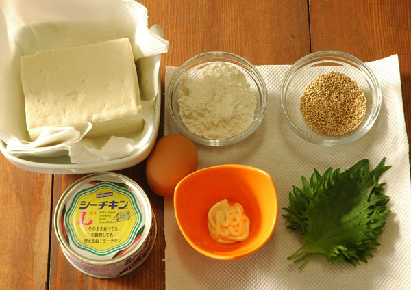「豆腐とツナのナゲット」の材料