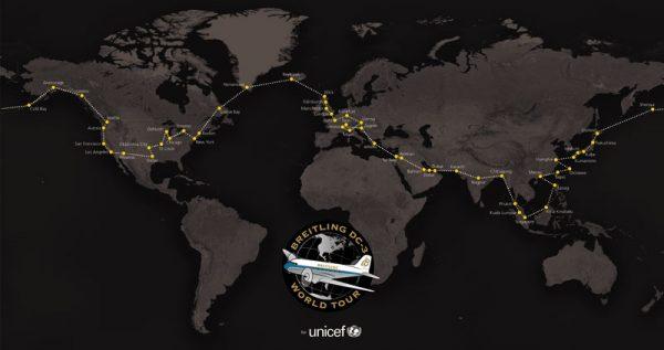 ブライトリングDC-3ワールドツアー行程マップ(Breitling SA)