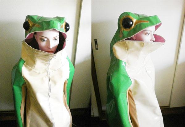 雨の時期に着たい……カエルジャケットがめちゃくちゃ可愛い
