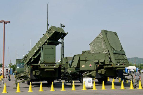 航空自衛隊のペトリオットミサイルシステム(2015年の様子)