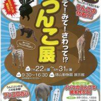 周南市徳山動物園この夏の企画は『うんこ展』!もちろん触れるぞ!