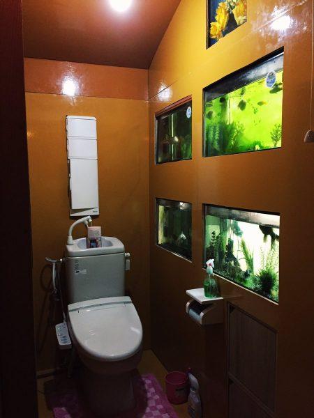 日曜大工以上のクオリティ!ベストオブフリーダムなトイレ水族館