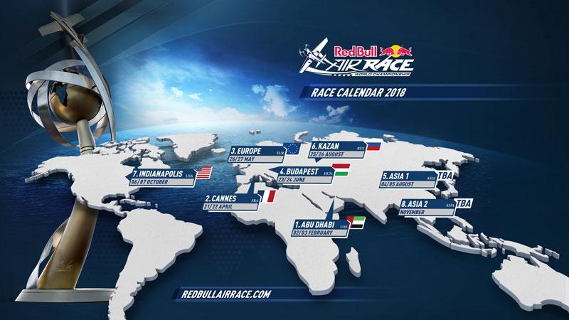 レッドブル・エアレース2018年スケジュール発表・アジア2ヶ所で開催