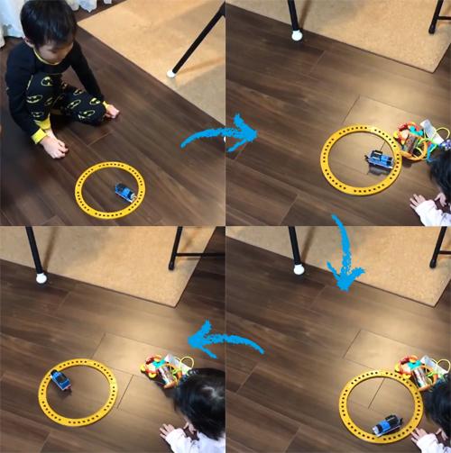 子供の自由な発想が生み出したトーマスの遊び方がロボット掃除機のアレ!