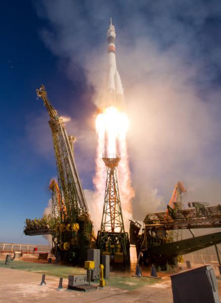 離昇するソユーズMS-07(Image Credit:NASA)