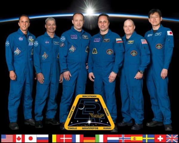 第54次ISS長期滞在クルー(Image Credit:NASA)