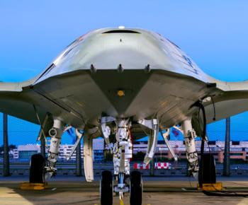 ボーイングのMQ-25候補機(Boeing photo by Eric Shindelbower)