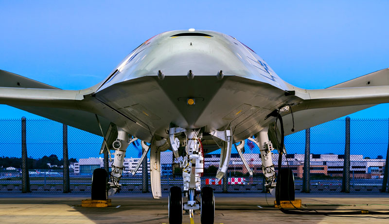 ボーイングのMQ-25候補機(Boeing photo by Eric Shindelbower)
