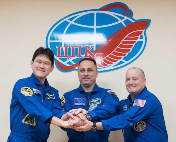 ソユーズMS-07のクルー(Image Credit:NASA)