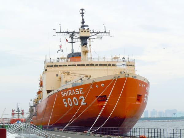 船橋港で保存される初代しらせ(SHIRASE)