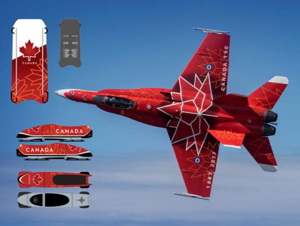 平昌五輪・カナダチームのボブスレーとスケルトンは戦闘機のデザイン