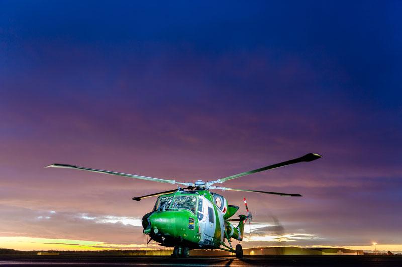 イギリス陸軍のリンクス汎用ヘリコプター((c) Crown copyright 2018)