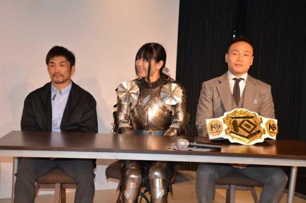 左から藤原あらし選手、加川聖香選手、森井洋介選手