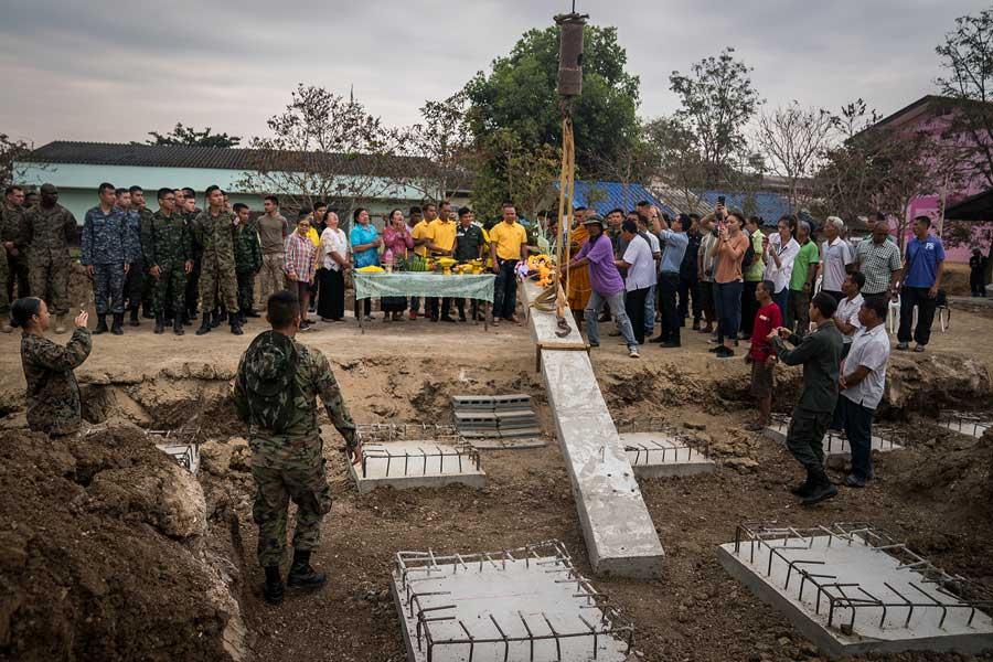 陸上自衛隊も参加した学校建設式典(Photo:USMC)