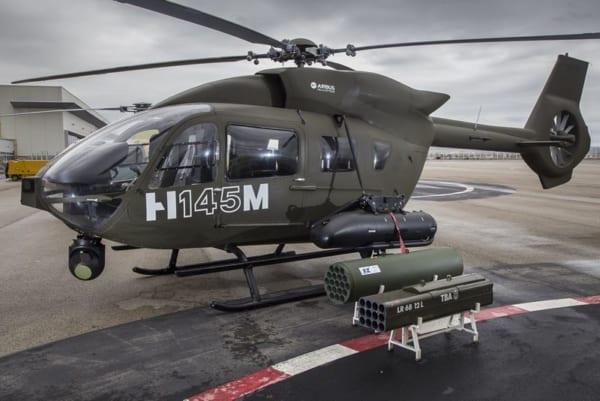 Hforceの40mm・70mmロケットランチャーとガンポッド(Image:Airbus)