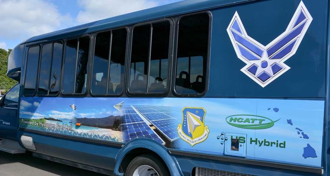 アメリカ空軍がハワイで燃料電池車を運用中