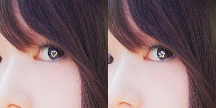 瞳に星をうつしだす自撮りライト 少女漫画のヒロイン気分が味わえるかも?