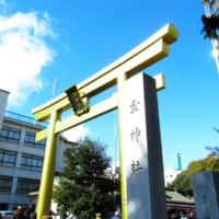 岐阜市のデラゴールドな神社に行って金の文字の御朱…